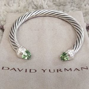 7 mm David Yurman bracelet with prasiolite